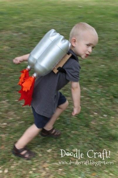 Джетпак Jetpack для ребенка из пластиковых бутылок