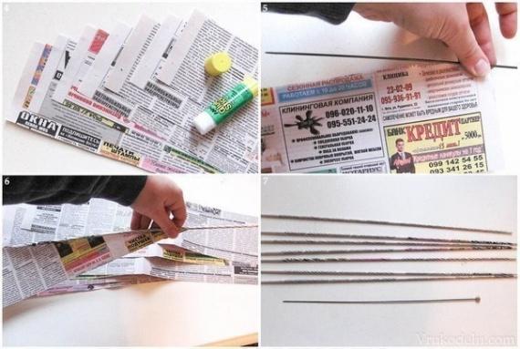 Трубочки из бумаги своими руками