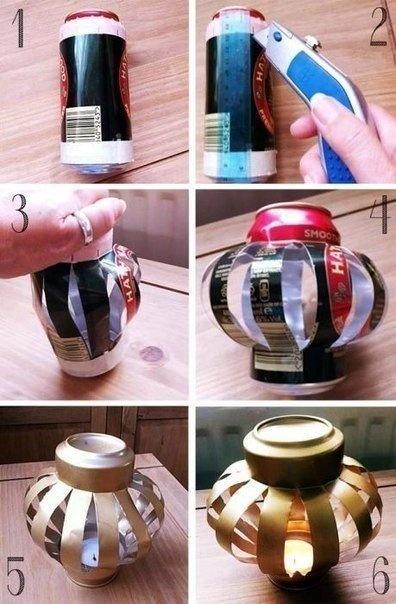 Как сделать из алюминиевой банки фонарик