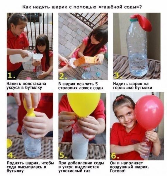 Как надуть шарик без гелия в домашних условиях