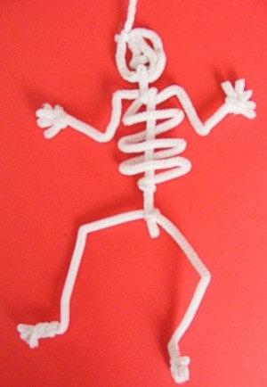скелет из ершиков