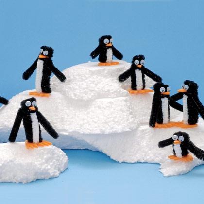 пингвины из ершиков