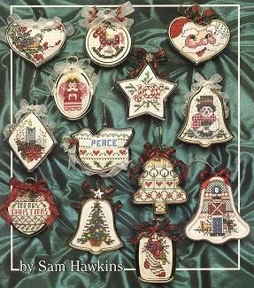 вышивание крестом - игрушки на елку