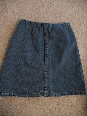 юбка из джинсов