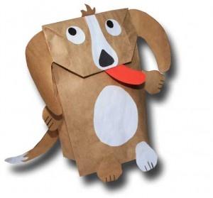 кукольная собака из мешка