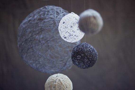 шары из ниток и клея