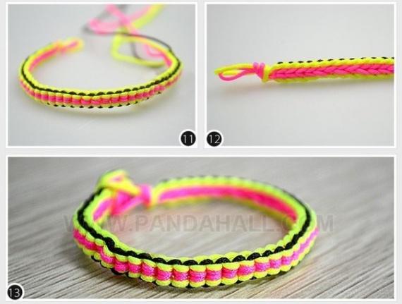Плетем яркий браслет