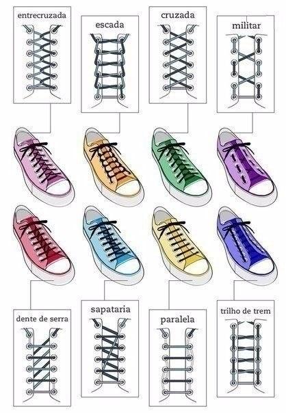 Несколько оригинальных способов завязать шнурки
