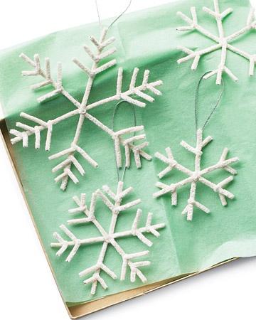 снежинки из ёршиков