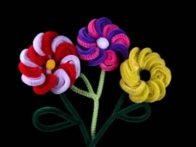 цветочки из ершиков