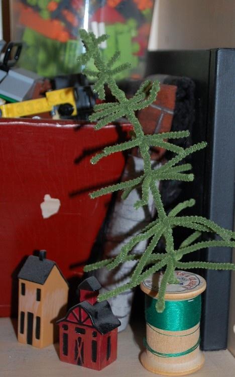 елка из ершиков